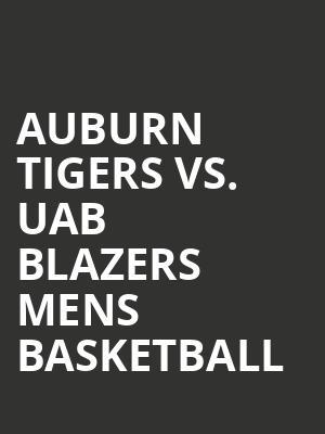 Auburn Tigers Vs Uab Blazers Mens Basketball Tickets
